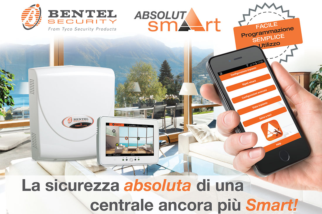 centrale antifurto absoluta smart srl